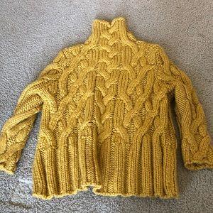 Zara mustard yellow turtleneck romper M